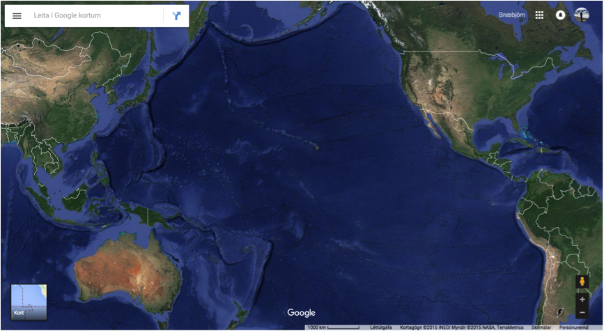 "Mynds 4: Google Maps ""Satellite view"" of the Pacific Ocean"